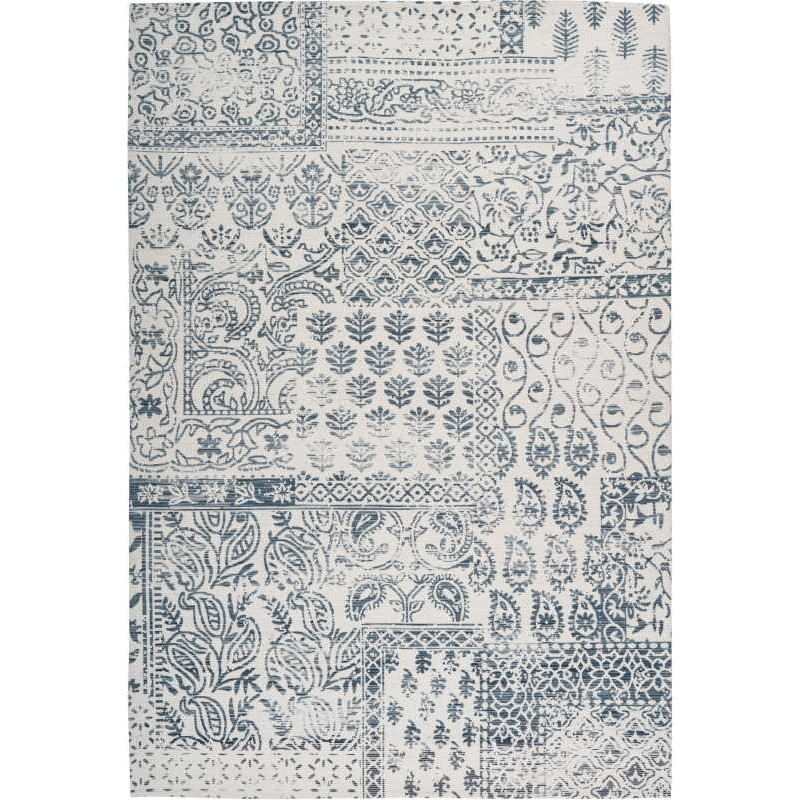 tappeto Arte Espina YOGA 300 BLU SCURO AVORIO
